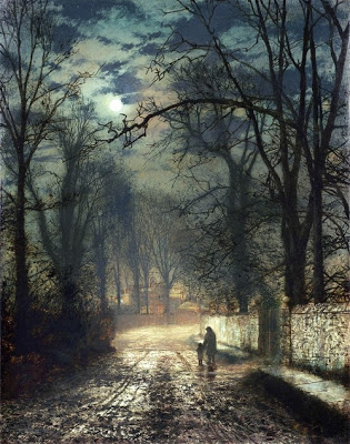 John Atkinson Grimshaw - A moonlit lane