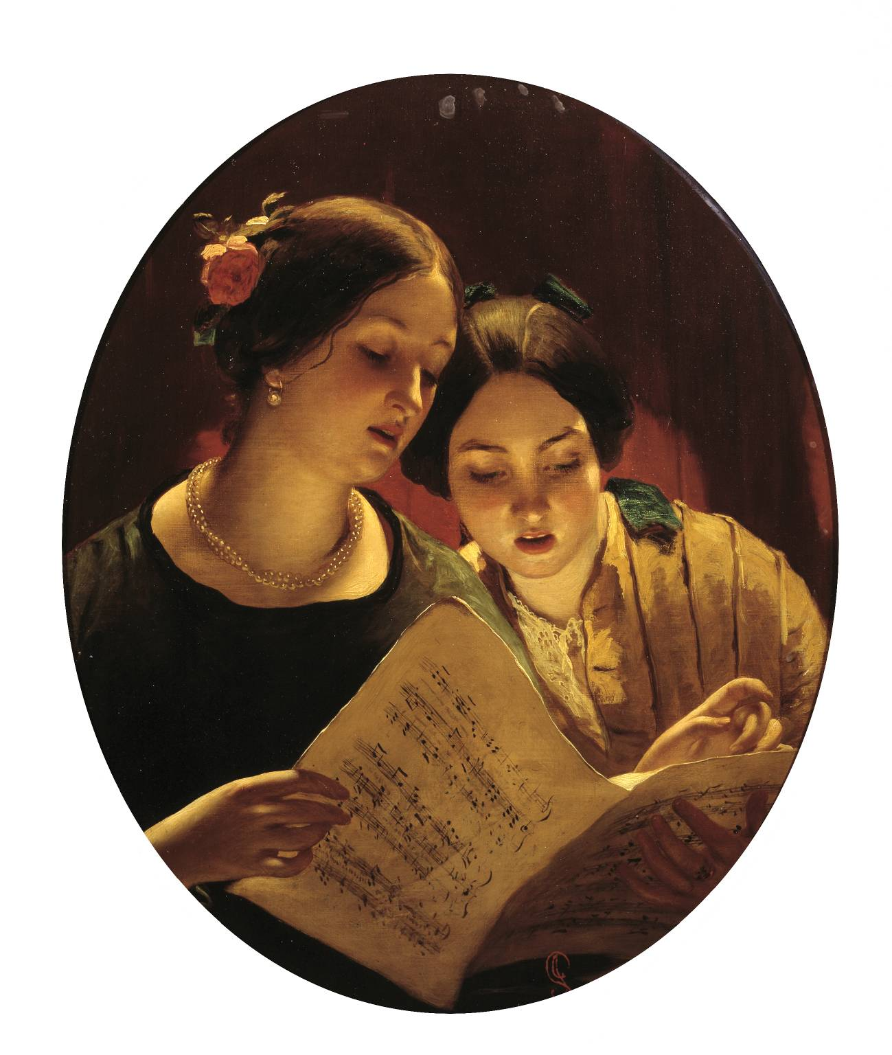 The Duet null by James Sant 1820-1916
